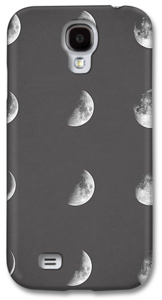 Lunar Phases Galaxy S4 Case by Taylan Apukovska