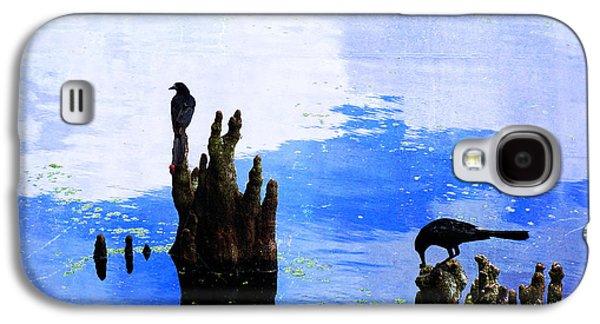 Lunch Break - Crow Art By Sharon Cummings Galaxy S4 Case by Sharon Cummings