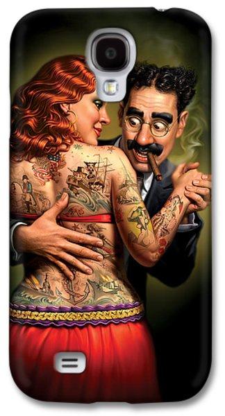 Lydia The Tattooed Lady Galaxy S4 Case by Mark Fredrickson