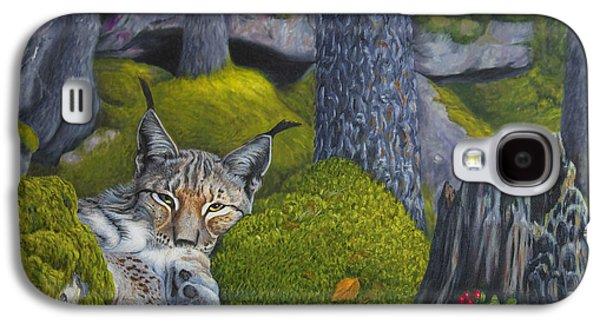 Lynx In The Sun Galaxy S4 Case by Veikko Suikkanen