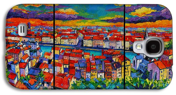 Lyon Panorama Triptych Galaxy S4 Case by Mona Edulesco