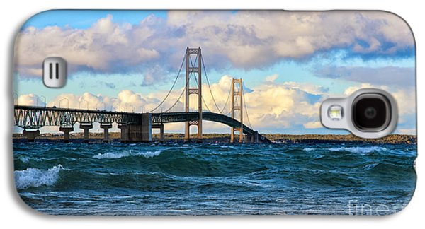 Mackinac Among The Waves Galaxy S4 Case by Rachel Cohen
