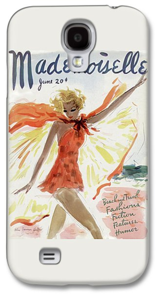 Mademoiselle Cover Featuring A Model At The Beach Galaxy S4 Case