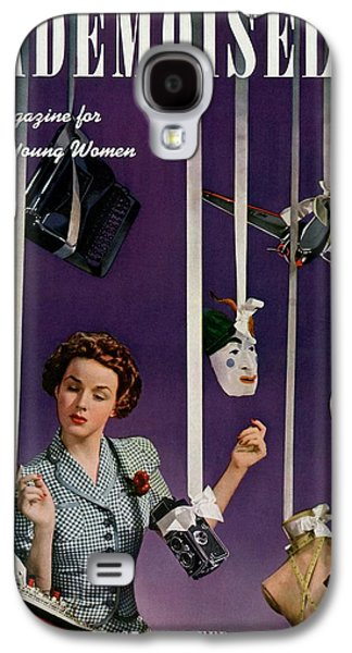 Mademoiselle Cover Featuring A Model Galaxy S4 Case by Paul D'Ome