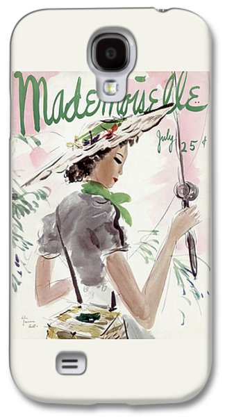 Mademoiselle Cover Featuring A Woman Holding Galaxy S4 Case