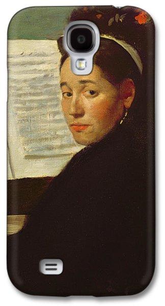 Mademoiselle Marie Dihau At The Piano Galaxy S4 Case by Edgar Degas