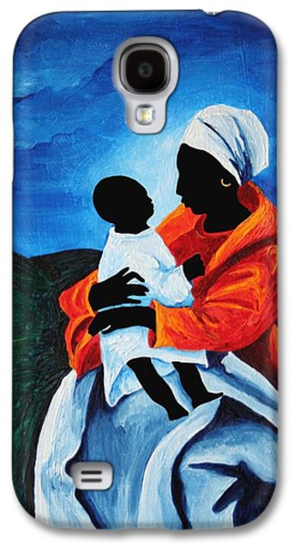 Madonna And Child First Words Galaxy S4 Case by Patricia Brintle