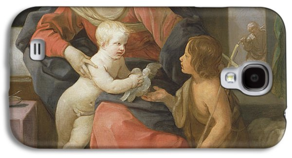 Madonna And Child With Saint John The Baptist Galaxy S4 Case by Guido Reni