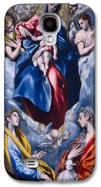 Madonna And Child With Saint Martina And Saint Agnes Galaxy S4 Case by  El Greco Domenico Theotocopuli