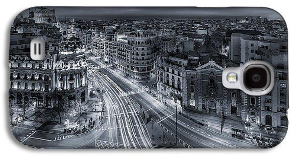 Madrid City Lights Galaxy S4 Case