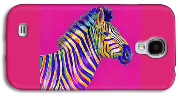 Magenta Zebra Galaxy S4 Case