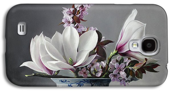 Magnolia And Apple Blossem Galaxy S4 Case by Pieter Wagemans