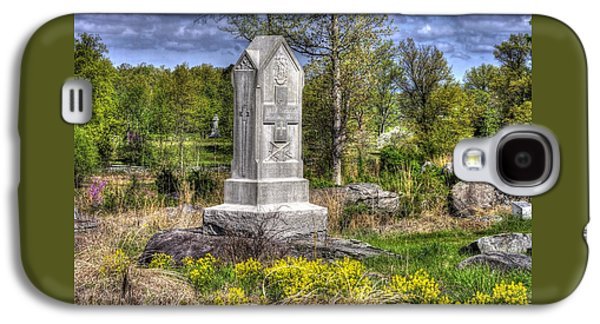 Maine At Gettysburg - 5th Maine Volunteer Infantry Regiment Just North Of Little Round Top Galaxy S4 Case by Michael Mazaika