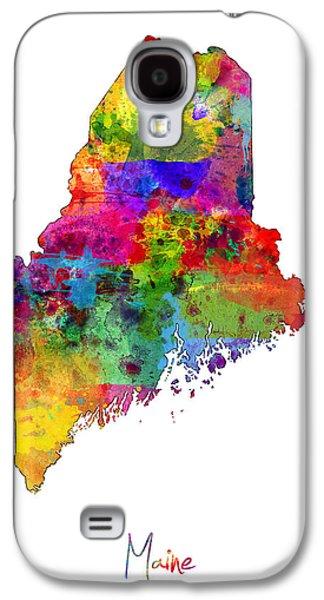 Maine Map Galaxy S4 Case by Michael Tompsett