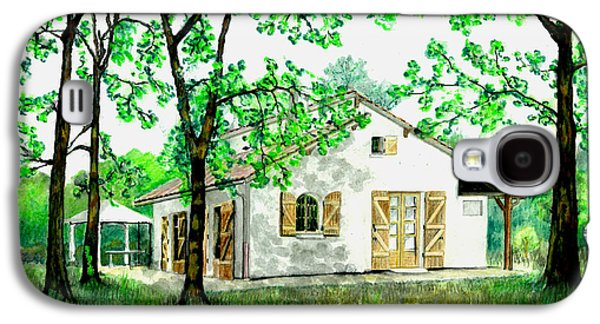 Galaxy S4 Case featuring the painting Maison En Medoc by Marc Philippe Joly