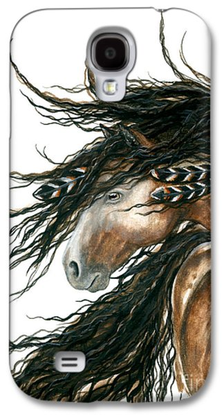 Majestic Pinto Horse 80 Galaxy S4 Case by AmyLyn Bihrle