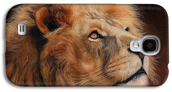 Majestic Lion Galaxy S4 Case by David Stribbling