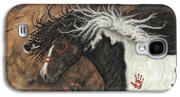 Majestic Pinto Horse 78 Galaxy S4 Case by AmyLyn Bihrle