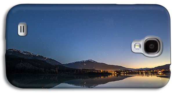 Make A Wish Shooting Star Over Whistler Blackcomb Galaxy S4 Case by Pierre Leclerc Photography