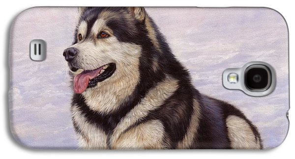 Malamute Galaxy S4 Case by David Stribbling