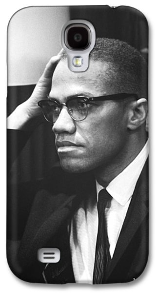 Malcolm X Galaxy S4 Case by Underwood Archives Marion S Trikosko