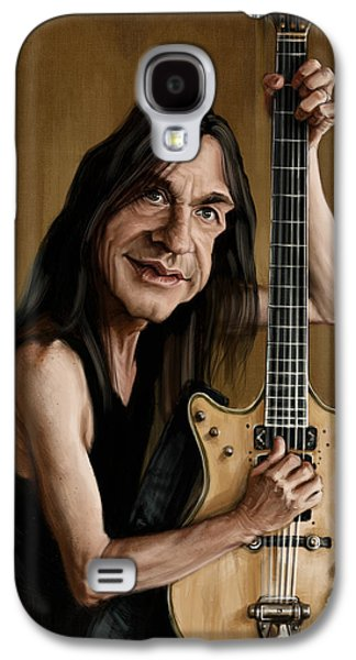 Malcolm Young Galaxy S4 Case by Andre Koekemoer