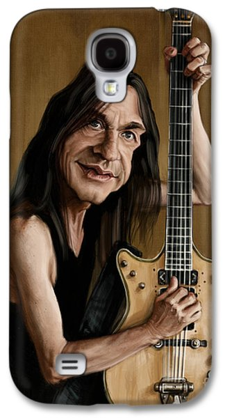 Malcolm Young Galaxy S4 Case