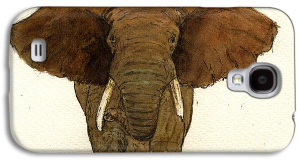 Male Elephant Galaxy S4 Case by Juan  Bosco