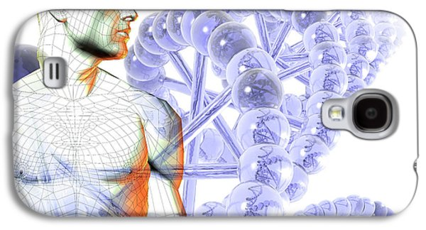 Male Figure With Dna Galaxy S4 Case