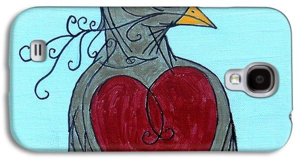 Mama Bird Detail Galaxy S4 Case by Genevieve Esson