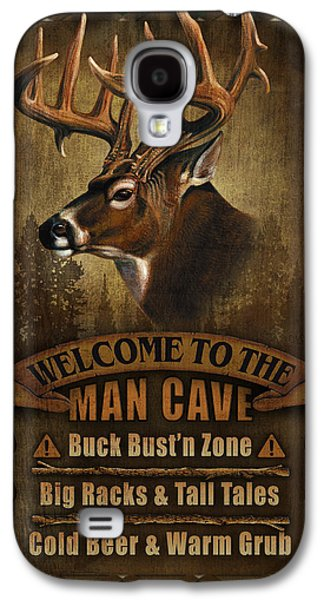 Pheasant Galaxy S4 Case - Man Cave Deer by JQ Licensing