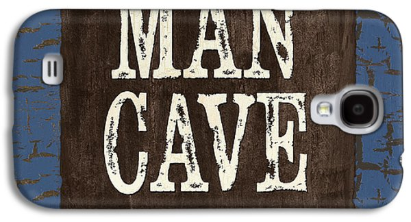 Man Cave Enter At Your Own Risk Galaxy S4 Case by Debbie DeWitt