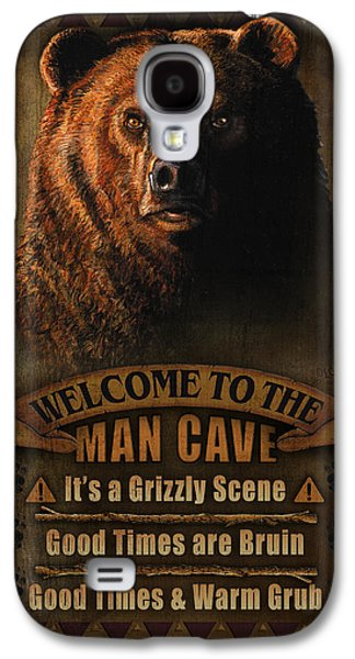 Pheasant Galaxy S4 Case - Man Cave Grizzly by JQ Licensing