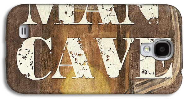 Man Cave My Cave My Rules Galaxy S4 Case by Debbie DeWitt