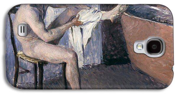 Man Drying His Leg  Galaxy S4 Case