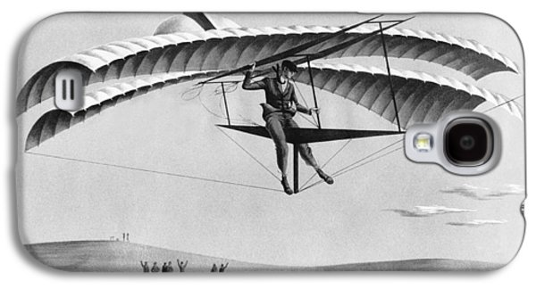 Man Gliding In 1883 Galaxy S4 Case by Underwood Archives