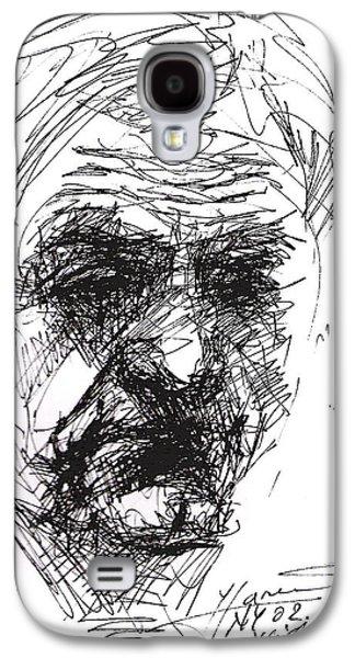 Man Head Galaxy S4 Case by Ylli Haruni