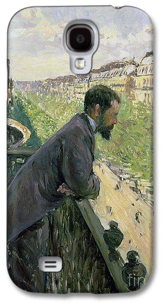 Man On A Balcony Galaxy S4 Case