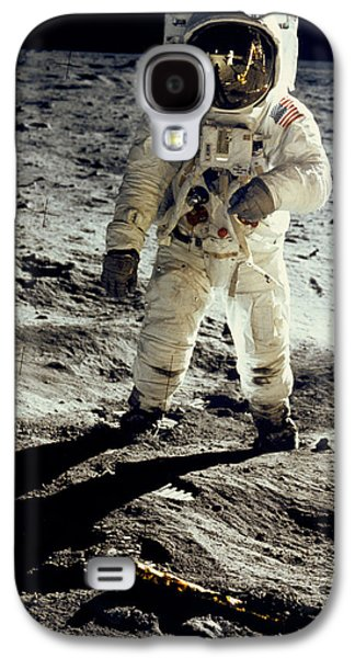 Man On The Moon Galaxy S4 Case by Neil Armstrong/Underwood Archive