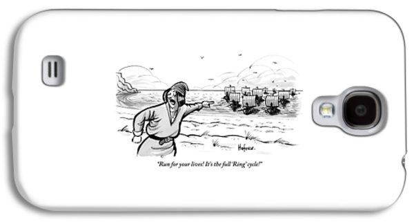 Man Standing On The Beach Screams As A Fleet Galaxy S4 Case by Kaamran Hafeez