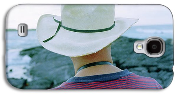 Man With Straw Hat Galapagos Islands Galaxy S4 Case