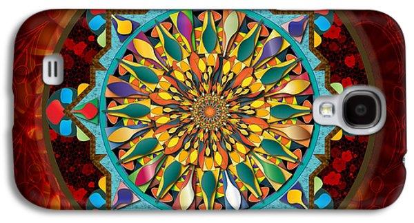 Mandala Droplets Sp Galaxy S4 Case by Bedros Awak