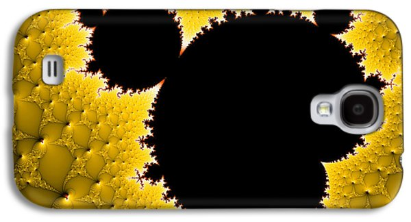 Mandelbrot Set Black And Yellow Fractal Art Galaxy S4 Case