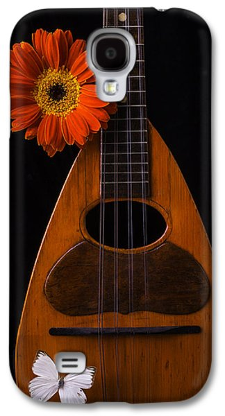 Mandolin With White Butterly Galaxy S4 Case by Garry Gay