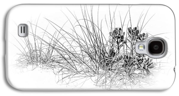 Mangrove And Sea Oats-bw Galaxy S4 Case