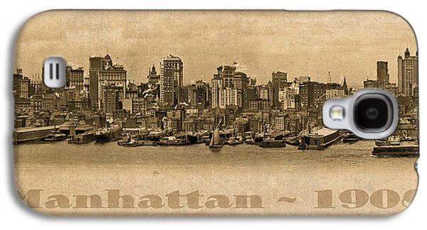 Manhattan Island New York City Usa Postcard 1908 Waterfront And Skyscrapers Galaxy S4 Case