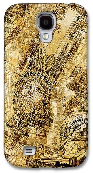 Manhattan Map Antique Galaxy S4 Case