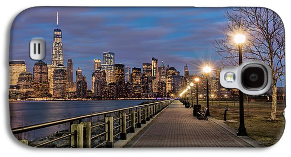 Manhattan Skyline At Twilight, Liberty Galaxy S4 Case