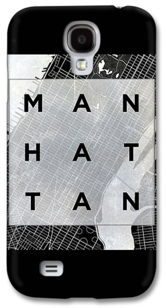 Manhattan Square Bw Galaxy S4 Case by South Social Studio