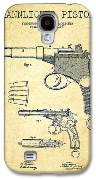 Mannlicher Pistol Patent Drawing From 1897 - Vintage Galaxy S4 Case by Aged Pixel